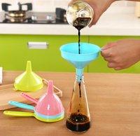 Food Grade Funnel portátil de plástico multifuncional punho longo líquidos Funis Início ferramenta da cozinha Pure SN217 Cor