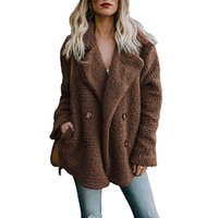 YJSFG HOUSE Winter Women Fur Coat 2018 New Solid Color Teddy...