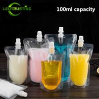 100 ml 200 ml 250 ml 300 ml 500 ml Stand-up Plastik İçecek Ambalaj Torbası Içecek Suyu Suyu Süt Kahve DL6166