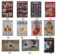 Cerveja Aberto Fechado Placa de Metal Do Carro Decoração Da Casa Do Vintage Sinal Da Lata Bar Pub Cafe Garagem Sinal de Metal Decorativo Arte Pintura de Placa