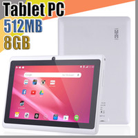 838 DHL 7 pouces Capacitif Allwinner A33 Quad Core Android 4.4 Dual Caméra Tablet PC 8GB / 512MB ROM WIFI EPAD YOUTUBE Facebook Google A-7PB