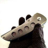 أحدث تصميم جون باركر مخصص هوكايدو الزعنفة 4-Hole التيتانيوم الجبهة مقبض الطي سكين m390 بليد التكتيكية edc في جمع أداة