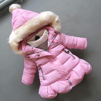 الطفل في فصل الشتاء فتاة أسفل المعاطف القطن أزياء الأطفال الرضع طفل مقنعين سترة قميص الاطفال في فصل الشتاء سترة الثلوج الكثيفة