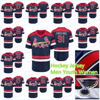 2019 St. Louis Blue Limited Hockey Jersey 91 Vladimir Tarasenko 90 Ryan O'Reilly 50 Binnington 27 Alex Pietrangelo 10 Schenn Jerseys
