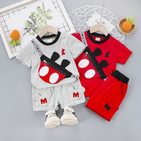Kleinkind-Kind-Baby-Outfits T-Shirt Tops + Pants Sommer-Outfit Set-Jungen-Kleidung Sets