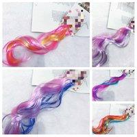 Crianças Glitter Cabelo Dress Up trançada peruca Hair Extension Hairpin Acessórios de cabelo cor favor de partido peruca T2I51072