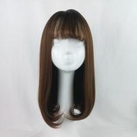 Grenzüberschreitender Explosionspunkt Damen Langes Haar Luft Liu Haar Europäische und Amerikanische Perücke Headset Hersteller Direktverkauf