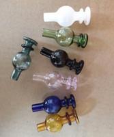 Цветные ufo стеклянные бутылки углеводов Cap Cap 35mm OD 7 Цветные аксессуары для курения для кварцевых Banger Nail Water Bongs Cookahs Oil Rig