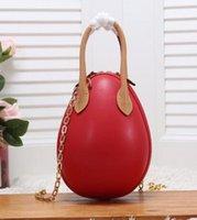 새로운 EGG 핸드백 꽃 편지 토트 어깨 가방 여성 체인 가방 정품 가죽 클러치 레이디 메신저 가방 크로스 바디 지갑