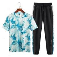 Мужские дизайнерские костюмы лето Sweatsuit 2020 роскошь дизайнер одежды kid9d8s Летние мужские наборы с коротким рукавом печати Tracksuit мужчин Спортивная одежда