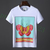 0b2b3c36 Wholesale butterfly t shirts for sale - Designer luxury Brand Mens T shirt  Spring Summer Italy