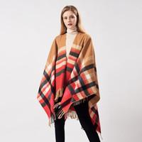 보헤미안 스타일 여성 파시미나 가을 겨울 파티 소녀 패션 격자 무늬 높은 품질 숄에 대 한 따뜻한 술 스카프
