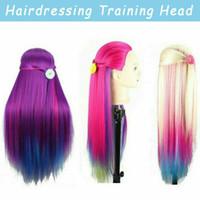 26 coloré formation cheveux tête Salon coupe coiffure Mannequin avec pince