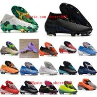2021 zapatos de fútbol para hombre tacos Superfly 7 Elite SE FG CR7 Botas de fútbol mercurial original Neymar Scarpe Calcio