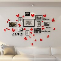 Butterfly Acrylic mirror wall stickers Bedroom living room P...