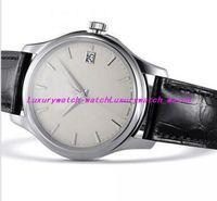 2 Art-Luxusuhren 39mm automatisches mechanisches schwarzes Lederarmband 5227G-001 Uhr-Mann-Saphir-Lederarmband-Sport-Uhr-Uhren