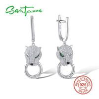Santuzza Boucles d'oreilles en argent pour les femmes 925 Sterling Silver Dangle Earrings Long Argent 925 avec Zircon Brincos Bijoux J190618