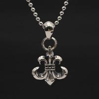 925 فضة اليدوية خمر مجوهرات الأمريكية الشرير القوطية نمط العتيقة الفضة مرساة مصمم قلادة المعلقات دون سلسلة هدية