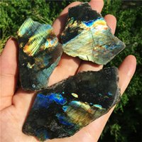 3 sztuk Naturalny Flash Labradorite Próbka Plasterek Szorstki Labradorytów Kamień Kryształ Healing Chakra Medytacja Klejnot Kamienny Wafel