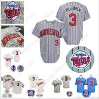0b42244c7 New Arrival. Harmon Killebrew Jersey Twins Cooperstown 1991 WS World Series  Minnesota Baseball Jerseys Grey Pinstripe White Blue Cream Pullover 2019 Men