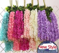 High QualityArtificial ivy flowers Silk Flower Wisteria Vine...