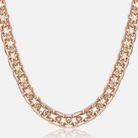 Trendsmax 5MM القلائد للمرأة بنات 585 وردة نوع ذهب بيسمارك ربط سلسلة المرأة قلادة الأزياء والمجوهرات هدايا