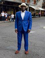TPSAADE 2020 plage style Groom Blazers Royal Blue One Button Men Dress Terno Masculino Vêtements de mariage formel (veste + pantalon)