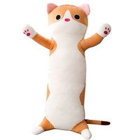 65см длинный кошка подушка плюшевая игрушка мягкая подушка чучела животных кукла спать диван спальня декор Kawaii Прекрасные подарки для детей