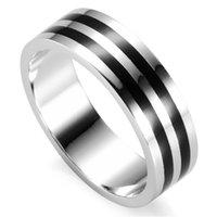 SHUNXUNZE Rave Bewertungen Black Resin männlich 925 Sterling Silber Ringe für Männer Engagement Hochzeit Schmuck Accessoires S-3781 Größe 7 8 9 10 11 12
