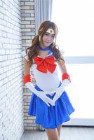 Gloves Headwear Tsukino Usagi Mercury Mars Jupiter Chibiusa Anime Sailor Moon Cosplay Costume Uniform Fancy Party Dress