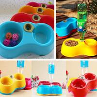 1pc Pet Köpek Kedi Otomatik Su Sebili Gıda Bulaşık Kablarda İçme Bowl Şişe