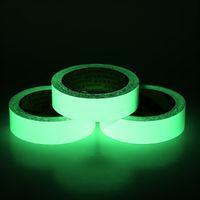 Reflektierende Glow Klebeband Selbstklebende Aufkleber-entfernbarer Lichtband Fluorescent Glühend Dunkel Striking warnende Band Drop