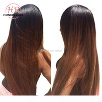 Honrin Hair Ombre T1b 30 Silky Straight Full Lace Wig Pre Pl...