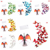 12 stücke 3D Schmetterling Wandaufkleber PVC Simulation Stereoskopische Schmetterling Wandbild Aufkleber Kühlschrankmagnet Kunst Aufkleber Kinderzimmer Home Decor VT0446