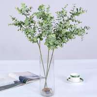 3 braches 31heads Artificial Plants Eucalyptus tree branch f...