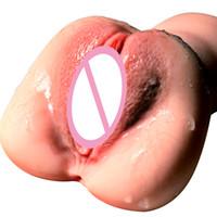 Vagina realista para los hombres de silicona del gatito del bolsillo Masturbator masculino del sexo real Vírgenes Chupado Copa sexo juega para los hombres T200619