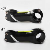 ZNIINO deter 31,8 milímetros 6/17 Grau Estrada / MTB 3K Gloss fibra de carbono total Hastes peças da bicicleta 70/80/90/100/110/120/130 bicicleta haste verde