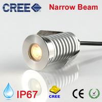 CREE LED Yeraltı Lambası IP67 12 V 24 V 1 W 3 W Bahçe Açık Nokta Zemin Işık Dar Işın Açı Gömme Spot 15Degree Inground Uplight
