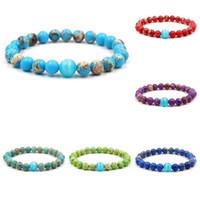 piedras pulsera de perlas mujeres de los hombres de color púrpura elegante verde azul rojo emperador imperial de piedra pulsera brazalete de cuentas de ópalo