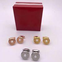 Joyas de manguito de joyas de cristal de cristal blanco para el novio de boda camisa de regalo botones de la manga de los botones del gemelo francés hombres