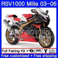 Aprilia için Gövde RSV 1000R 1000 RV60 Mille Kırmızı siyah çerçeve 2003 2004 2005 2006 316HM.33 RSV1000RR RSV1000R RSV1000 R RR 03 04 05 06