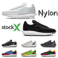Stock X Sacai LDV Waffle running shoes for men black white N...