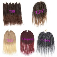 Synthetic Crochet Braids Hair Extensions 12 or 30 Strands Pa...
