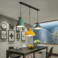 Набор из 3 столовой настольный светильник лампы Macaroon Красочные светодиодные современные подвесные светильники тумана для кухонного на острове потолочное освещение