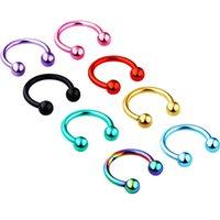 Perfuração do piercing no nariz 1.2*8*3/3mm Stainless Steel Nose Stud for Women adult Unisex Ear Stud Piercing body Jewelry
