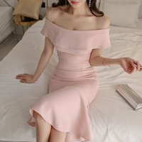 HAYBLST Brand Elegant Women Dress 2020 New Summer Sexy Pink ...