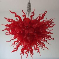 Подвесные светильники 100% рот взорванный боросиликат Муранский люстра подвеска-светлое искусство Лобби светлое прихожая стеклянные хрустальные люстры