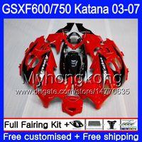 GSX600F per SUZUKI GSXF 600 750 cornice rossa di fabbrica GSXF600 2003 2004 2005 2006 2007 293HM.24 GSXF-750 KATANA GSXF750 03 04 05 06 07 Carenature