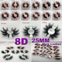 25mm 5D Nerz Wimpern Falsche Wimpern Kreuz und quer Natürliche falsche Wimpern Makeup 3D Nerz Wimpern Verlängerung Wimpern