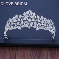 Barok Farklı Gümüş Kristal Yaprak Gelin Tiaras Taç Yapay elmas Yarışması Balo Taçlar Diadem başlıkiçi Düğün Saç Aksesuarları
